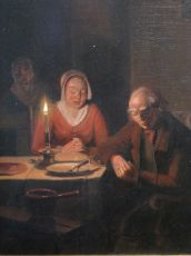 The prayer before the meal by Pieter Gerardus Sjamaar