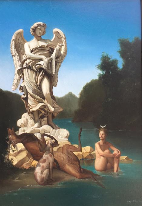 Atteone e Diana by Giovanni Tommasi Ferroni