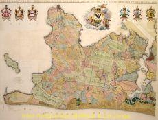 Nieuw Kaart van het Hoogheemraadschap der Uitwaterende Sluizen in Kennemerland en Westfriesland  by Klijn, C.W.M.