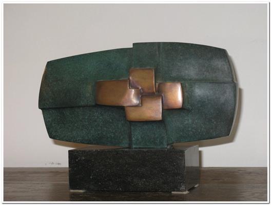 Compositie 4 vlakken by Gerrit Langedijk