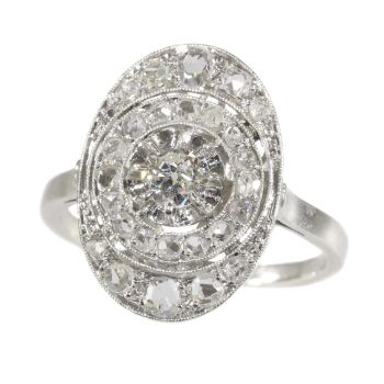 French Vintage Art Deco diamond engagement ring by Unknown Artist