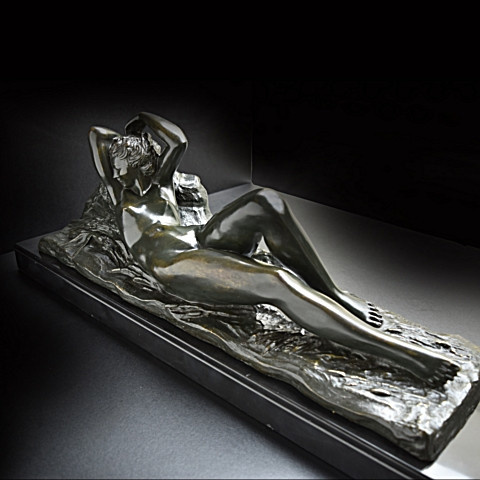 Art deco nude woman lying  by Marcel Andre Bouraine