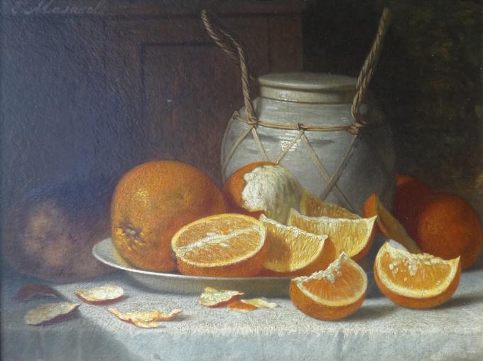 Still life with oranges by Johannes Engel Masurel