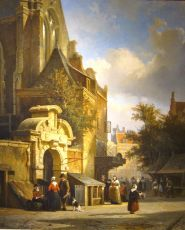 Town view, Utrecht, The Netherlands by Cornelis Springer