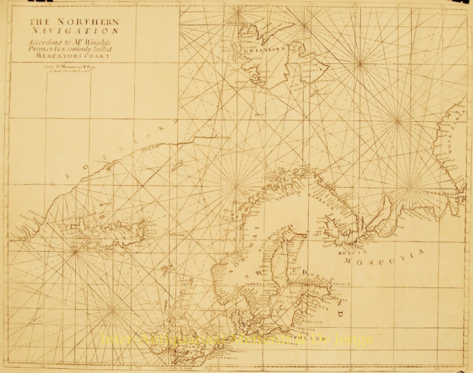 A Chart of Part of the North Sea from the South Foreland to Burnham Flatts, and from Callis Schelling Isle by W. and J. Mount, T. Page and Sons