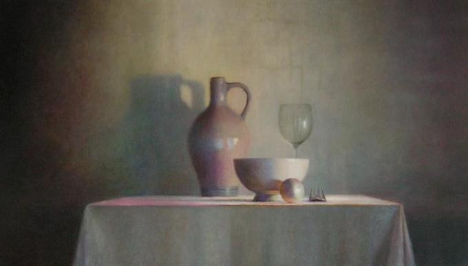 Aan tafel II by Anneke Elhorst