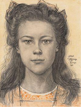 Portrait of Jo Vogel by Jan Toorop