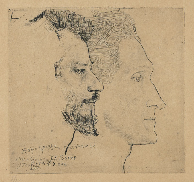 Portrait of Stefan George and Albert Verwey by Jan Toorop