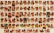 Baisers d'amour Unieke collectie van 78 postkaarten met de kus en liefde als onderwerp by Unknown Artist