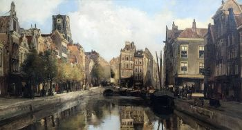 view of the canals in Rotterdam by job de vogel