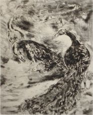 The bird with the feathers of the peacock by Marc Chagall