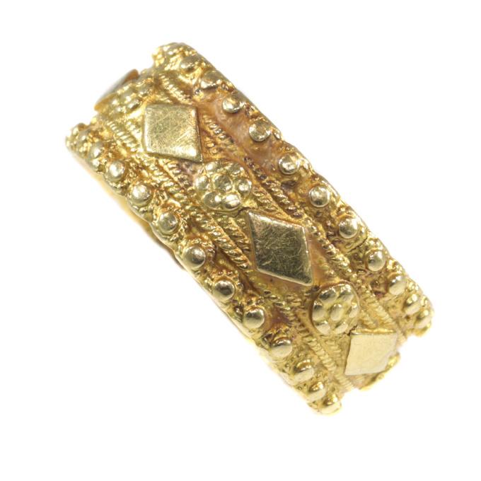 Late 18th Century Dutch gold ring hallmarked with Amsterdam hallmarks by Unknown Artist