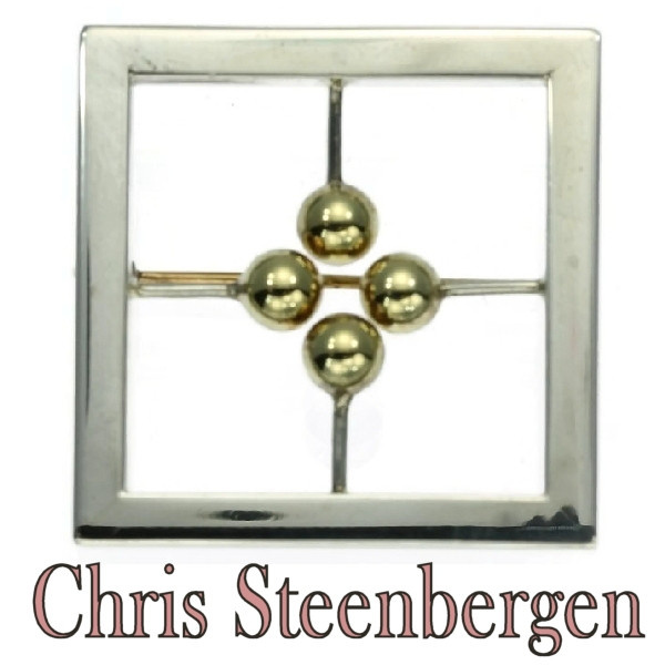 Artist Jewelry by Chris Steenbergen gold and silver brooch by Chris Steenbergen