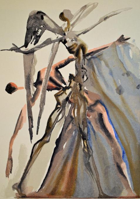 Divina commedia purgatorio 04 by Salvador Dali
