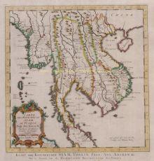 Carte des Royaumes de Siam, de Tunquin by Bellin, Jacques-Nicolas