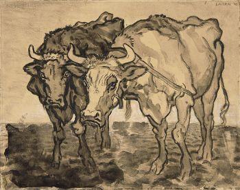 Oxen in Laren by Jan Sluijters