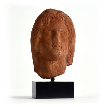 A Roman-Egyptian terracotta head of Alexander the Great, - by Unknown Artist