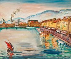 Le port Toulon by Achille Emile Othon Friesz