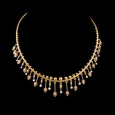 Neo-etruskan yellow gold necklace by Unknown Artist