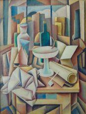 Kubistisch stilleven by Jan Broeze