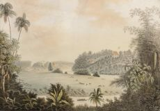 """""""Tandjong East and Tandjong West, near Jakarta (Batavia) 1819 (small) by QUIRIJN MAURITS RUDOLPH VERHUELL"""