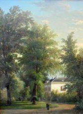 Park with mansion by Corstiaan Hendrikus de Swart