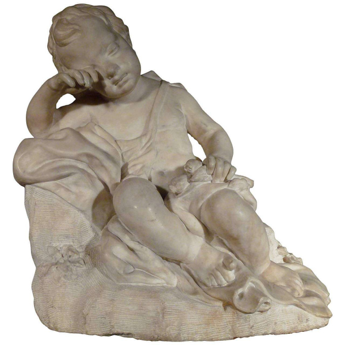 A Figure of a Putto, Seated by Unknown Artist