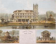Chateau La Petite Suisse (Villa Kanjel)  by  Theodore Müller/ Lemercier
