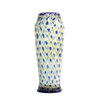 """Daum Vase  """"Décor de résille' by Daum Frères"""