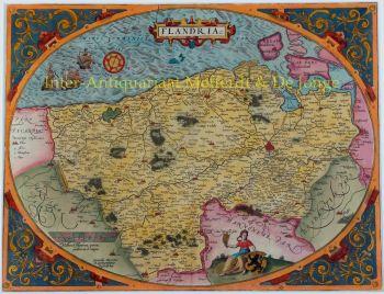 Vlaanderen  by  Arbraham Ortelius