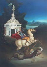 St. Giorgio e il Drago by Giovanni Tommasi Ferroni