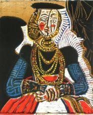 Buste de Femme d'apres Cranach le Jeune by Pablo Picasso