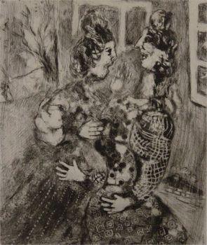 Les Femmes et le Secret by Marc Chagall