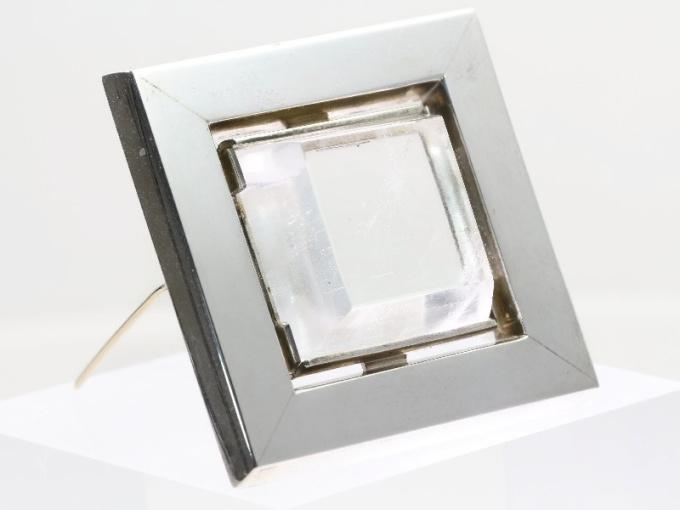 Artist Jewelry Chris Steenbergen silver brooch with rock crystal quartz by Chris Steenbergen