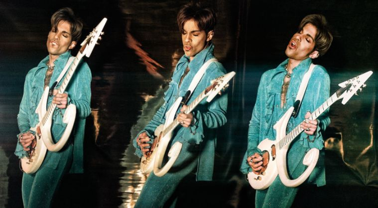Prince Triptych With Love Symbol Guitar Gallerease