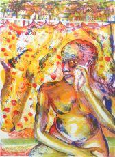 Wet handkerchief by Bhupen Khakhar