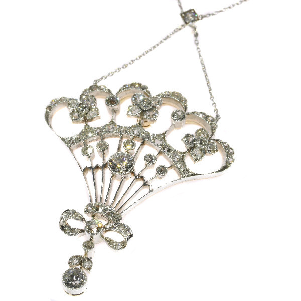 Belle Epoque diamond pendant most probably Austrian Hungarian by Unknown Artist