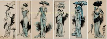 Fashion design drawings, Olga Behr  by Olga Behr