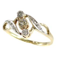 Vintage diamond Art Nouveau ring by Unknown Artist