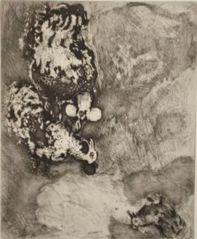 The two roosters by Marc Chagall