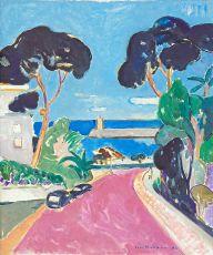 Gezicht op havenhoofd, Nice,  by Paul Hugo ten Hoopen