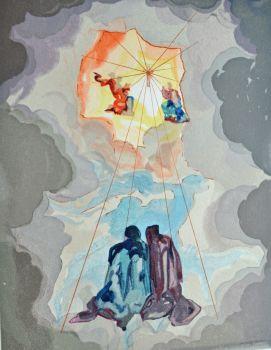 Divina commedia paradiso 15 by Salvador Dali