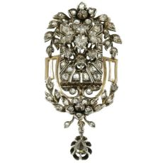 Victorian rose cut diamond pendant by Unknown Artist