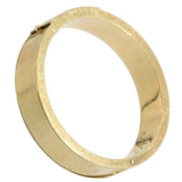 Gold antique souvenir ring with hidden space and woven hair by Unknown