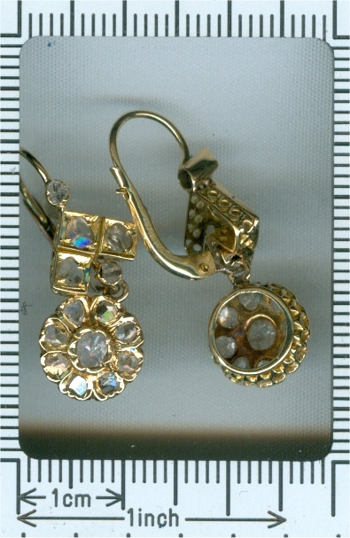 Vintage diamond earrings by Unknown