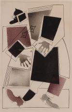 Constructivist design no3 of a sailor for a children's book by Lebedev, Vladimir Visilevich (1891-1967)